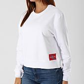 /achat-sweats-col-rond-crewneck/calvin-klein-sweat-crewneck-femme-monogram-logo-badge-8047-blanc-142348.html