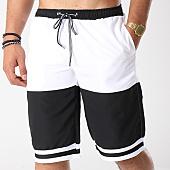 /achat-maillots-de-bain/john-h-short-de-bain-2p015-blanc-noir-142355.html