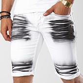 /achat-shorts-jean/john-h-short-jean-9650-blanc-noir-142443.html