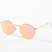 /achat-lunettes-de-soleil/ray-ban-lunettes-de-soleil-femme-round-metal-3447-dore-rose-142538.html