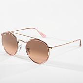 /achat-lunettes-de-soleil/ray-ban-lunettes-de-soleil-round-double-bridge-3647n-dore-rose-142568.html