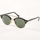 /achat-lunettes-de-soleil/ray-ban-lunettes-de-soleil-clubround-double-bridge-4346-noir-dore-142654.html