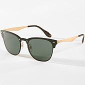 /achat-lunettes-de-soleil/ray-ban-lunettes-de-soleil-blaze-clubmaster-3576n-noir-dore-142672.html