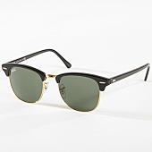 /achat-lunettes-de-soleil/ray-ban-lunettes-de-soleil-clubmaster-classic-3016-noir-dore-142675.html
