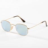/achat-lunettes-de-soleil/ray-ban-lunettes-de-soleil-hexagonal-flat-lenses-3548n-dore-argent-flash-142729.html