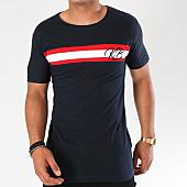 /achat-t-shirts/classic-series-tee-shirt-avec-bandes-kb-bleu-marine-blanc-rouge-142816.html