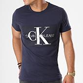 /achat-t-shirts/calvin-klein-tee-shirt-basic-monogram-box-logo-7842-bleu-marine-143143.html