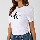 /achat-t-shirts/calvin-klein-tee-shirt-femme-core-monogram-logo-7878-blanc-143185.html