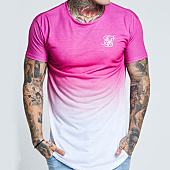 /achat-t-shirts-longs-oversize/siksilk-tee-shirt-oversize-curved-hem-techno-fade-13268-rose-degrade-blanc-143365.html