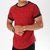 /achat-t-shirts-longs-oversize/frilivin-tee-shirt-oversize-avec-bandes-5003t-rouge-143510.html
