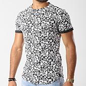 /achat-t-shirts-longs-oversize/uniplay-tee-shirt-oversize-up-t307-noir-floral-blanc-143575.html