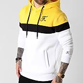 /achat-sweats-capuche/final-club-sweat-capuche-tricolore-avec-broderie-070-blanc-noir-jaune-143637.html