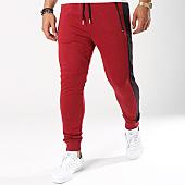 /achat-pantalons-joggings/gov-denim-pantalon-jogging-avec-bandes-g18016-bordeaux-144011.html