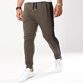 /achat-pantalons-joggings/gov-denim-pantalon-jogging-avec-bandes-g18016-vert-kaki-144013.html
