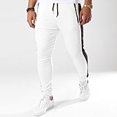 /achat-pantalons-joggings/classic-series-pantalon-jogging-avec-bandes-g18016-blanc-144016.html