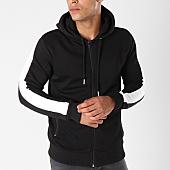 /achat-sweats-zippes-capuche/gov-denim-sweat-zippe-capuche-avec-bandes-g18016-noir-144018.html