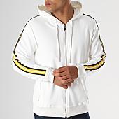 /achat-sweats-zippes-capuche/gov-denim-sweat-zippe-capuche-avec-bandes-g18017-blanc-144023.html
