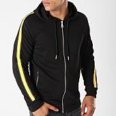 /achat-sweats-zippes-capuche/gov-denim-sweat-zippe-capuche-avec-bandes-g18017-noir-144029.html