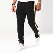 /achat-pantalons-joggings/gov-denim-pantalon-jogging-avec-bandes-g18017-noir-144030.html