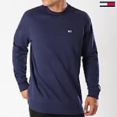 /achat-sweats-col-rond-crewneck/tommy-hilfiger-jeans-sweat-crewneck-classics-4469-bleu-marine-144102.html