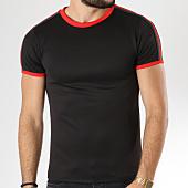 /achat-t-shirts/aarhon-tee-shirt-206-avec-bandes-noir-rouge-144177.html