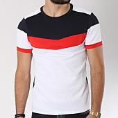 /achat-t-shirts/aarhon-tee-shirt-205-avec-bande-blanc-rouge-bleu-marine-144184.html