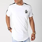 /achat-t-shirts-longs-oversize/sinners-attire-tee-shirt-oversize-avec-bandes-core-stripe-572-blanc-noir-144202.html