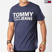 /achat-t-shirts/tommy-hilfiger-jeans-tee-shirt-essential-logo-4528-bleu-marine-144254.html