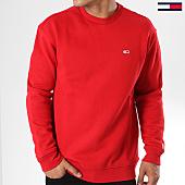 /achat-sweats-col-rond-crewneck/tommy-hilfiger-jeans-sweat-crewneck-classics-4469-rouge-144527.html