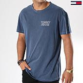/achat-t-shirts-longs-oversize/tommy-hilfiger-jeans-tee-shirt-oversize-garment-dye-logo-4567-bleu-marine-144544.html