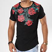 /achat-t-shirts-longs-oversize/uniplay-tee-shirt-oversize-16345-m230-noir-floral-144464.html