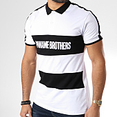 /achat-polos-manches-courtes/paname-brothers-polo-manches-courtes-avec-bande-m86-blanc-noir-144708.html