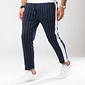/achat-pantalons-carreaux/frilivin-pantalon-raye-a-bandes-1379-bleu-marine-blanc-144920.html