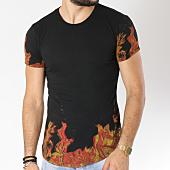 /achat-t-shirts-longs-oversize/classic-series-tee-shirt-oversize-38-noir-orange-145164.html