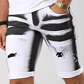 /achat-shorts-jean/john-h-short-jean-9810-blanc-noir-145120.html