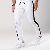 /achat-jeans/john-h-jean-slim-bande-brodee-p330-blanc-noir-145136.html