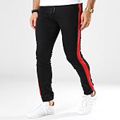 /achat-jogger-pants/john-h-jogger-pant-bande-brodee-p331-noir-rouge-145139.html