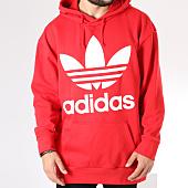 /achat-sweats-capuche/adidas-sweat-capuche-oversize-trefoil-dh5769-rouge-blanc-145243.html