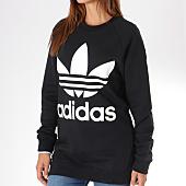 /achat-sweats-col-rond-crewneck/adidas-sweat-crewneck-oversize-femme-trefoil-dh3129-noir-145336.html