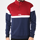 /achat-sweats-col-zippe/fila-sweat-col-zippe-herron-682356-bleu-marine-bordeaux-blanc-145278.html
