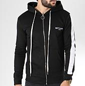 /achat-sweats-zippes-capuche/sixth-june-sweat-zippe-capuche-bande-brodee-m3471csw-noir-blanc-145364.html