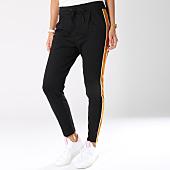 /achat-pantalons-carreaux/vero-moda-pantalon-avec-bandes-femme-eva-noir-145476.html
