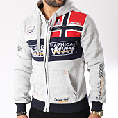 /achat-sweats-zippes-capuche/geographical-norway-sweat-zippe-capuche-flyer-gris-chine-145832.html
