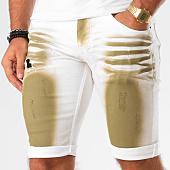 /achat-shorts-jean/john-h-short-jean-9920-blanc-vert-kaki-146439.html