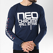 /achat-t-shirts-manches-longues/neochrome-tee-shirt-manches-longues-hall-stars-bleu-marine-146523.html