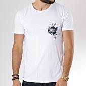 /achat-t-shirts/neochrome-tee-shirt-paint-blanc-bleu-marine-146539.html