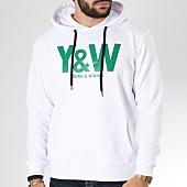 /achat-sweats-capuche/y-et-w-sweat-capuche-logo-blanc-vert-146507.html
