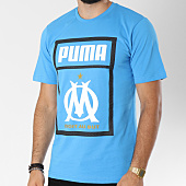 /achat-t-shirts/puma-tee-shirt-om-fan-shoe-tag-754218-bleu-clair-146577.html