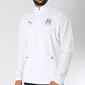 /achat-sweats-col-zippe/puma-sweat-avec-col-zippe-om-training-753989-blanc-146604.html