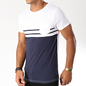 /achat-t-shirts-poche/lbo-tee-shirt-poche-bicolore-raye-479-bleu-marine-blanc-146794.html